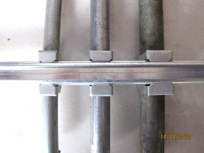 养殖大棚圆管配件:燕尾槽